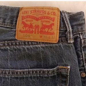 Levis Classic 505 Five Pocket Jeans